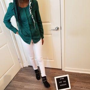 NWT Banana Republic green blouse  extra Small